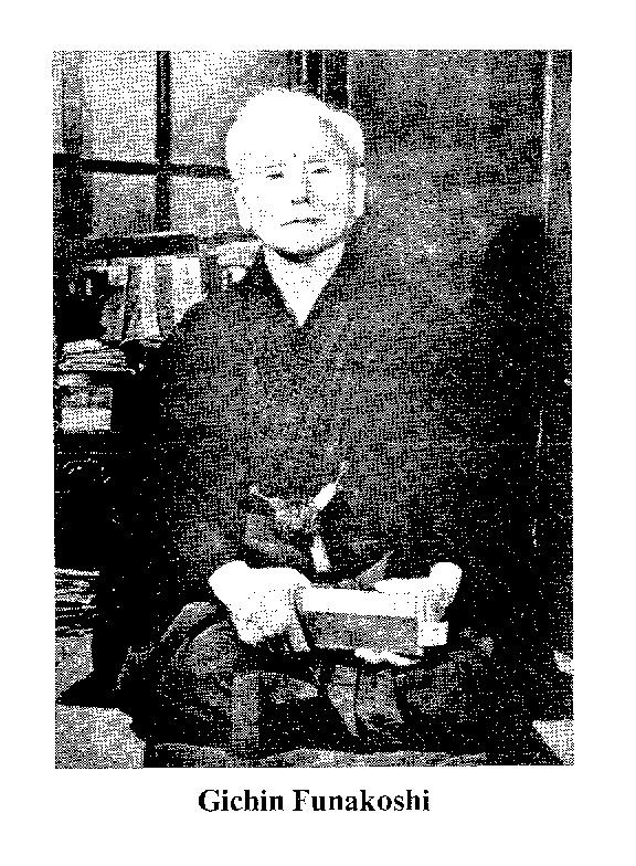 Gichin Funakoshi a modern karate megalapítója.