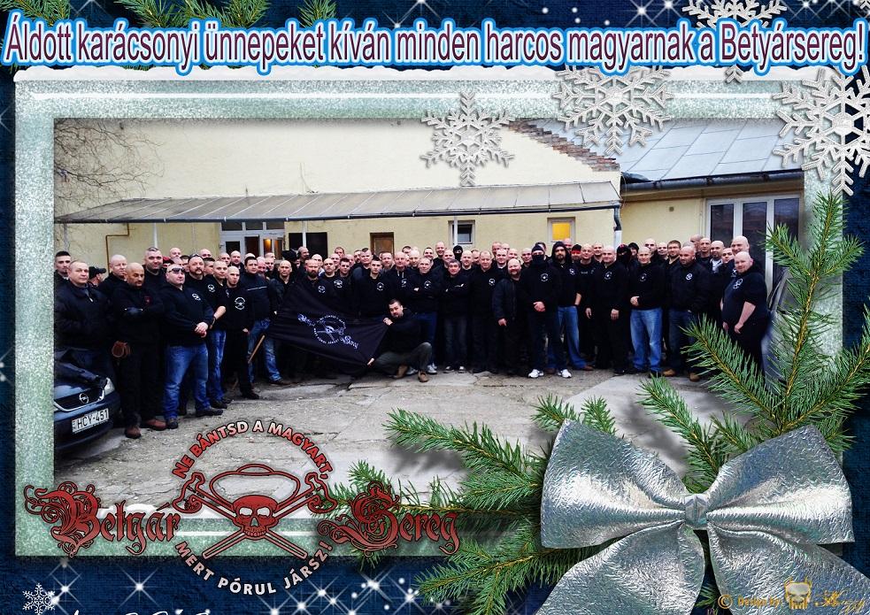 Áldott karácsonyi ünnepeket kíván minden harcos magyarnak a Betyárseregkicsi